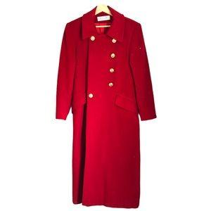 Dior by Lori Piana Superfine Wool Red Peacoat 6